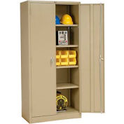 Global Industrial™ Storage Cabinet Assembled 36x18x78 Tan