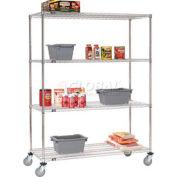 Nexel® Stainless Steel Wire Shelf Truck 48x24x69 1200 Lb. Capacity