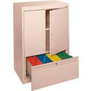 Sandusky System Series Counter Height Cabinet with File Drawer HFDF301842 - 30x18x42, Sand