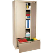Sandusky System Series Storage Cabinet with File Drawer HADF301864 - 30x18x64, Sand