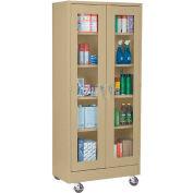 Sandusky Mobile Clear View Storage Cabinet TA4V361872 - 36x18x78, Sand