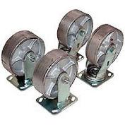 Semi-Steel Caster Kit HOP-SC8-2 for Vestil Low Profile Self Dumping Hopper