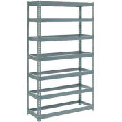 "Extra Heavy Duty Shelving 48""W x 24""D x 96""H With 7 Shelves, No Deck"