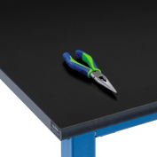 "72""W x 30""D x 1""Thick Phenolic Resin Safety Edge Workbench Top"