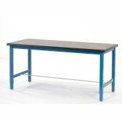"72""W x 30""D Lab Bench - Phenolic Resin Safety Edge - Blue"