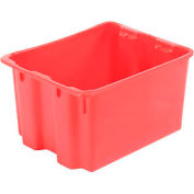 "LEWISBins SN2117-12 Polyethylene Container 21""L x 17""W x 12""H, Red - Pkg Qty 5"