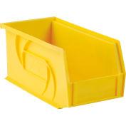 """LEWISBins Plastic Stacking Bin PB105-5 - 5 -1/2""""W x 10-7/8""""D x 5""""H, Yellow - Pkg Qty 12"""
