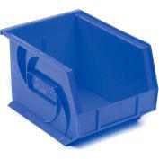 LEWISBins Plastic Stacking Bin PB108-7 - 8 1/4 W x 10-3/4 D x 7 H, Blue - Pkg Qty 6