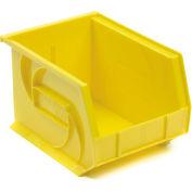"""LEWISBins Plastic Stacking Bin PB108-7 - 8-1/4""""W x 10-3/4""""D x 7""""H, Yellow - Pkg Qty 6"""