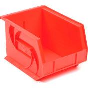 """LEWISBins Plastic Stacking Bin PB108-7 - 8-1/4""""W x 10-3/4""""D x 7""""H, Red - Pkg Qty 6"""