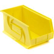 """LEWISBins Plastic Stacking Bin PB148-7 - 8-1/4""""W x 14-3/4""""D x 7""""H, Yellow - Pkg Qty 12"""