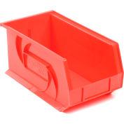 """LEWISBins Plastic Stacking Bin PB148-7 - 8-1/4""""W x 14-3/4""""D x 7""""H, Red - Pkg Qty 12"""