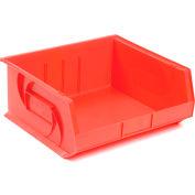 """LEWISBins Plastic Stacking Bin PB1416-7 - 16-1/2""""W x 14-3/4""""D x 7""""H, Red - Pkg Qty 6"""