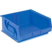 """LEWISBins Plastic Stacking Bin PB1416-7 - 16-1/2""""W x 14-3/4""""D x 7""""H, Blue - Pkg Qty 6"""