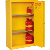 "Global&#8482 Flammable Cabinet - Manual Close Bi-Fold Single Door 45 Gallon - 43""W x 18""D x 65""H"