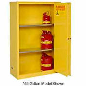 "Global&#8482 Flammable Cabinet - Manual Close Bi-Fold Single Door 60 Gallon - 34""W x 34""D x 65'H"