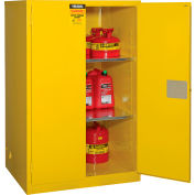 "Global&#8482 Flammable Cabinet - Manual Close Double Door 90 Gallon - 43""W x 34""D x 65""H"