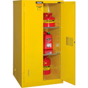 "Global&#8482 Flammable Cabinet  - Self Close Double Door 60 Gallon - 34""W x 34""D x 65'H"