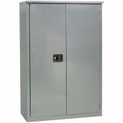 """Jamco Fire Resistant Cabinet BX43-GP, All Welded 34""""W x 34""""D x 65""""H Gray"""
