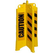 "Eagle Yellow Folding Barricade with Black ""Caution"" Sheeting, 1820CAUTION"
