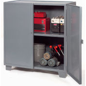 "Jamco Extra Heavy Duty Storage Cabinet MH448-GP - Welded 12 Gauge 48""W x 36""D x 54""H Gray"