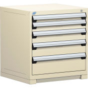 Rousseau Modular Storage Drawer Cabinet 30x27x32, 5 Drawers (5 Sizes) w/o Divider, w/Lock, Beige