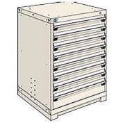 Rousseau Modular Storage Drawer Cabinet 30x27x40, 8 Drawers (2 Sizes) w/o Divider, w/Lock, Beige