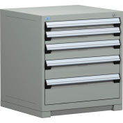 Rousseau Modular Storage Drawer Cabinet 30x27x32, 5 Drawers (5 Sizes) w/o Divider, w/Lock, Gray