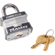 "Master Lock® Keyed Padlock 3/4"" Shackle Keyed Different - Pkg Qty 3"