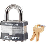 "Master Lock® No. 1 Keyed Padlock - 15/16"" Shackle - Keyed Different - Pkg Qty 6"