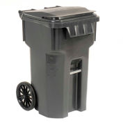 Otto Mobile Trash Container, 65 Gallon Gray - 6955050F-B43