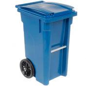 Otto Mobile Trash Container - 35 Gallon Blue