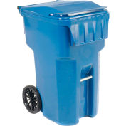 Otto Mobile Trash Container, 95 Gallon Blue - 9954444F-B43