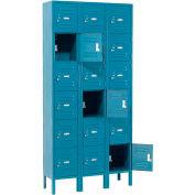 Infinity™ Locker Six Tier 12x15x12 18 Door Assembled Blue