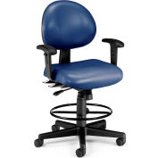 Stool With Arms Blue