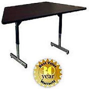 Pedestal Table With Height Adjustable Legs 30x30x60