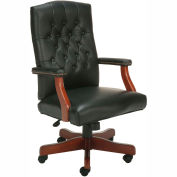 High Back Leather Office Chair Black