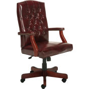 Vinyl High Back Office Chair Oxblood