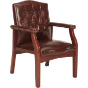 Vinyl Mid Back Office Chair Oxblood