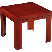 "Boss Reception End Table - 22"" - Mahogany"