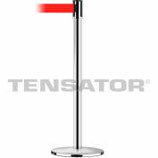 Tensabarrier Black Slimline 13'L Red Retractable Belt Barrier