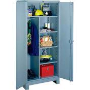 Lyon Heavy Duty Combination Storage Cabinet DD1121 - 36x24x82 - Gray