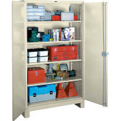 Lyon Heavy Duty Storage Cabinet PP1114 - 36x21x82 - Putty