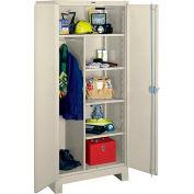 Lyon Heavy Duty Combination Storage Cabinet PP1121 - 36x24x82 - Putty