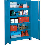 Lyon Heavy Duty Storage Cabinet BB1114 - 36x21x82 - Blue