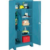 Lyon Heavy Duty Combination Storage Cabinet BB1121 - 36x24x82 - Blue