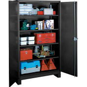 Lyon Heavy Duty Storage Cabinet KK1114 - 36x21x82 - Black