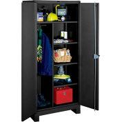 Lyon Heavy Duty Combination Storage Cabinet KK1148 - 48x24x82 - Black