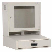 Global Industrial™ LCD Counter Top Security Computer Cabinet, Gray