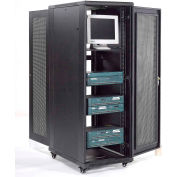 Network Server Data Rack Enclosure Cabinet with Vented Doors, 37U, Unassembled